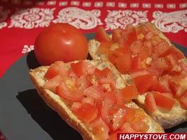 Tuscan Tomato Bruschetta - By happystove.com