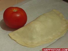 Filled Italian Piadina Flatbread (Crescione) - By happystove.com