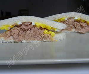 Boiled Eggs and Tuna Tramezzini