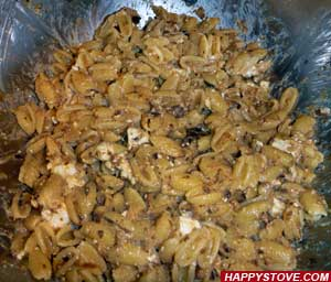 Pasta with Eggplant and Feta Cheese Marinade