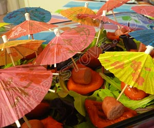 Bell Peppers and Franks Umbrellas