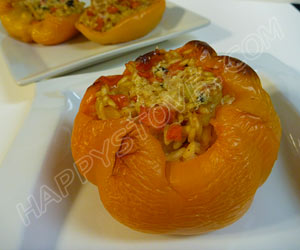 Bell Peppers Stuffed with Risotto