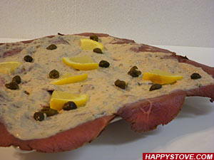 Roast Beef with Tuna Sauce - By happystove.com