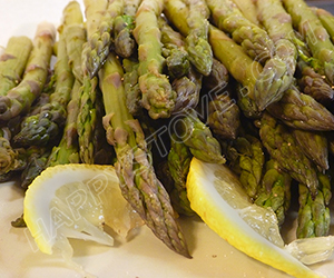 Steamed Asparagus Salad with Salt, Pepper and Lemon Drops