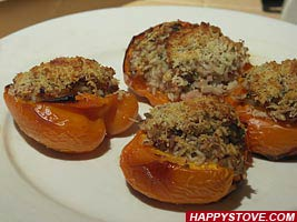 Baked Peppers Stuffed with Rice and Tuna