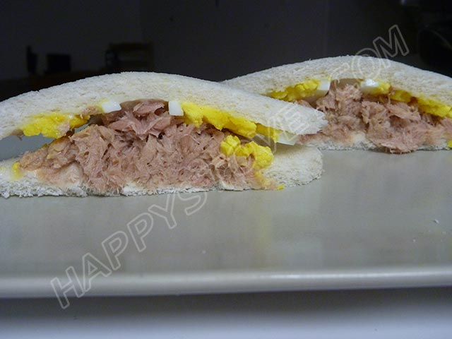Boiled Eggs and Tuna Tramezzini - By happystove.com