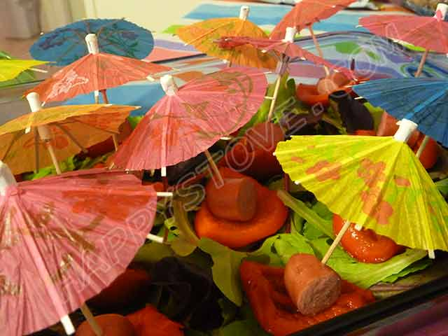 Bell Peppers and Franks Umbrellas - By happystove.com