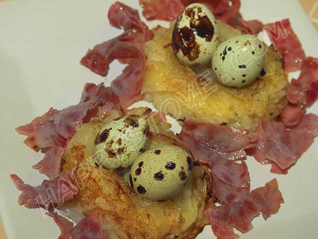 Quail Eggs in a Potato Nest - By happystove.com