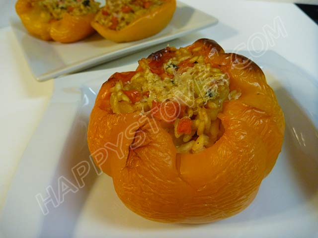 Bell Peppers Stuffed with Risotto - By happystove.com